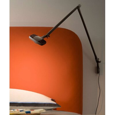Otto Watt Wall Bracket Armed Sconce Finish: Black