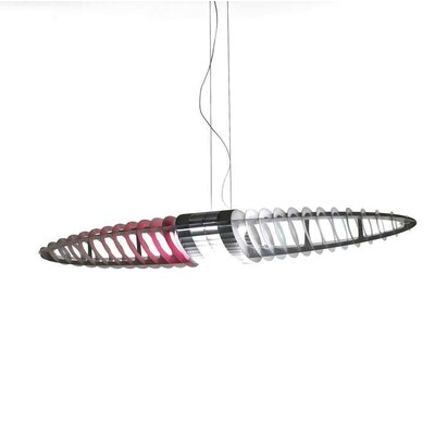 Sollis 2-Light Geometric Pendant Finish: Red