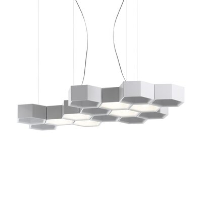 Honeycomb 6 Light LED Suspension Lamp