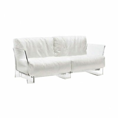 Pop Loveseat Upholstery: White