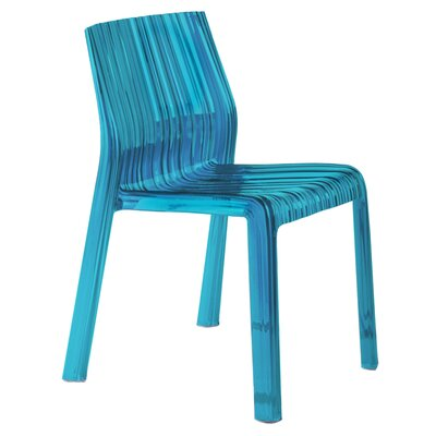 Frilly Chair (Set of 2) Finish: Transparent Turquoise Blue