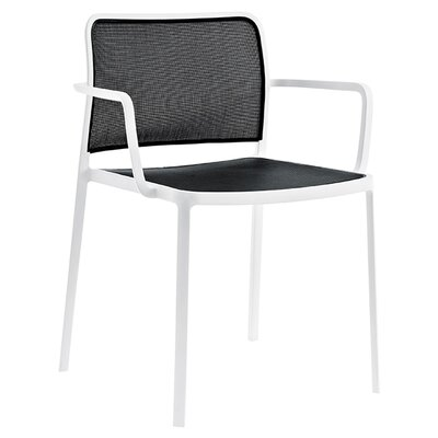 Audrey Armchair (Set of 2) Finish: White/Black