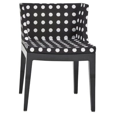 Mademoiselle Fabric Side Chair Finish: Crystal, Color: Black Pattern