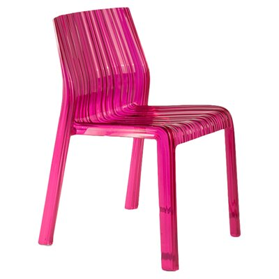Frilly Chair (Set of 2) Finish: Transparent Fuchsia