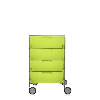 Mobil Storage Cabinet Translucent Citron Product Photo