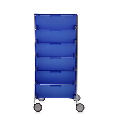 Mobil Storage Cabinet Color: Translucent Cobalt Product Picture 1384