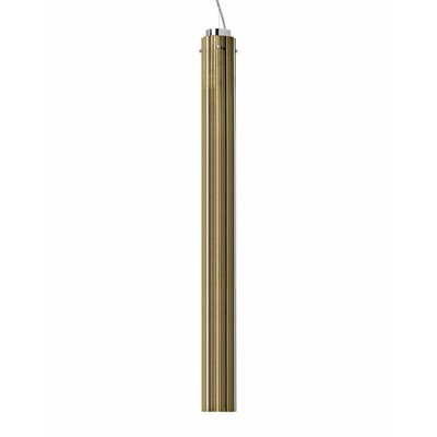 Rifly 1-Light Mini Pendant Finish: Gold, Size: 35.43 H x 3.15 W x 3.15 D