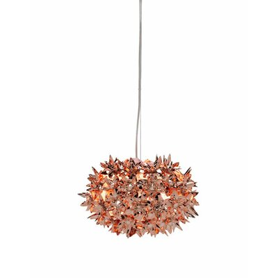 Bloom Suspension Lamp Finish: Copper, Size: 11 W x 11 D