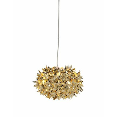 Bloom Suspension Lamp Finish: Gold, Size: 11 W x 11 D