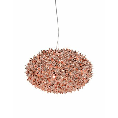 Bloom Suspension Lamp Finish: Copper, Size: 20.87 W x 20.87 D