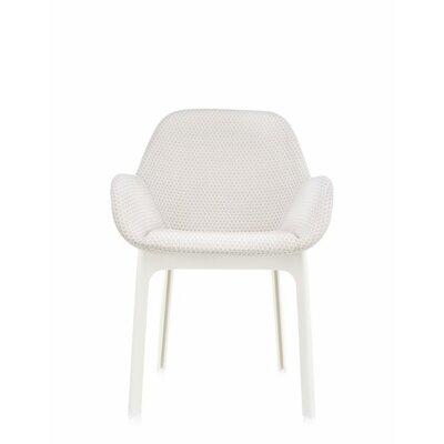 Clap Arm Chair Color: Beige/White