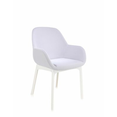 Clap Arm Chair Color: Grey/White
