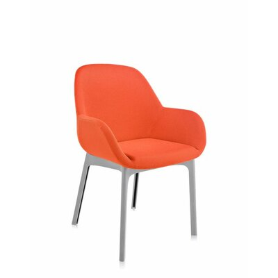 Clap Arm Chair Color: Orange/Grey
