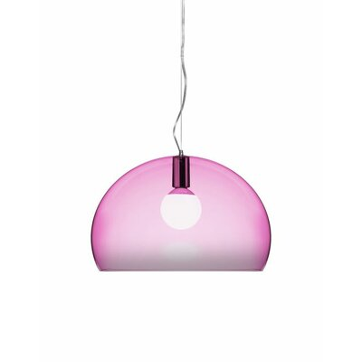 FL/Y 1-Light Suspension Bowl Pendant Color: Scarlet