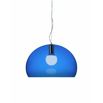 FL/Y 1-Light Suspension Bowl Pendant Color: Colbalt