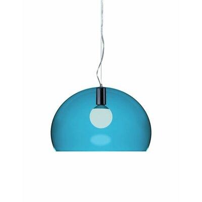 FL/Y 1-Light Suspension Bowl Pendant Color: Petrol Blue