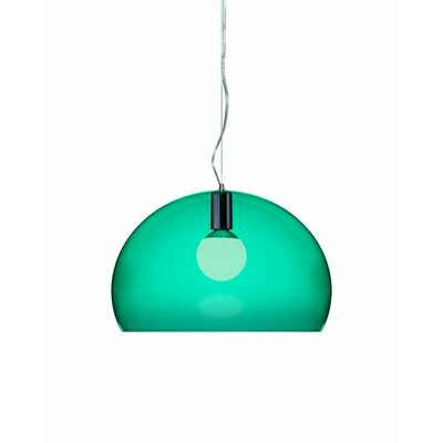 FL/Y 1-Light Suspension Bowl Pendant Color: Emerald