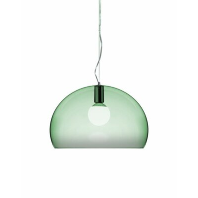 FL/Y 1-Light Suspension Bowl Pendant Color: Sage