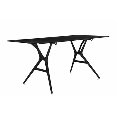 Spoon Training Table Tabletop Finish: Black, Size: Large Rectangular