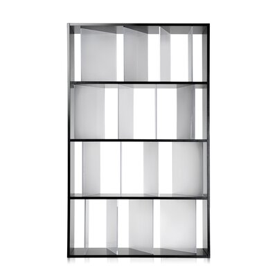 Sundial 65 Bookcase Finish: Glossy Black Frame, Satin Transparent Dividers Product Picture 968