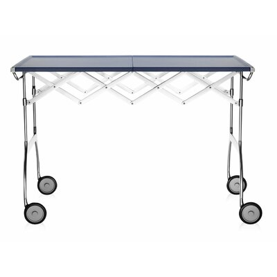 Battista Extendible Folding Table Color: Matte Sea Blue