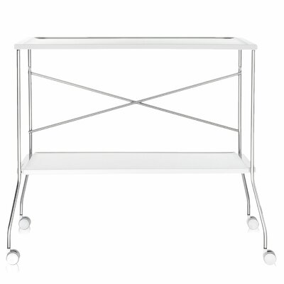 Flip Kitchen Cart Color: White