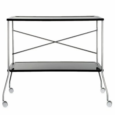 Flip Kitchen Cart Color: Black