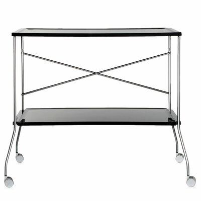 Flip Kitchen Cart Color: Black