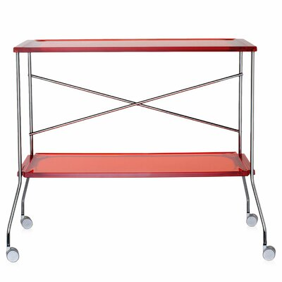 Flip Kitchen Cart Color: Orange