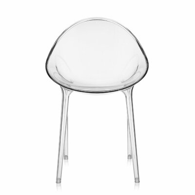 Mr. Impossible Side Chair Seat Color: Transparent Crystal Clear