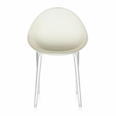 Mr. Impossible Side Chair Seat Color: Matte Glossy White