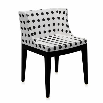 Mademoiselle Padded Armachair Frame Finish: Black, Upholstery: Sketches