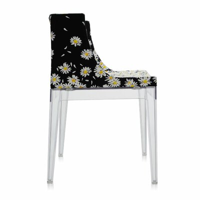Mademoiselle Side Chair Frame Finish: Transparent, Upholstery: Daises