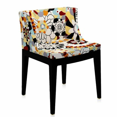 Mademoiselle Padded Armachair Frame Finish: Black, Upholstery: Vevey in Brown