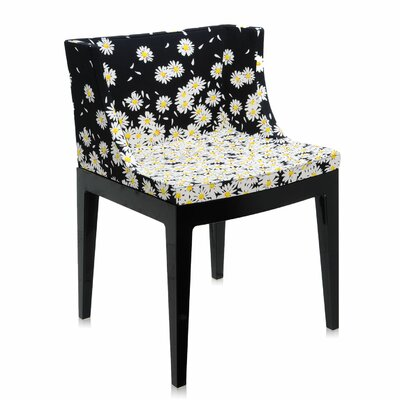 Mademoiselle Side Chair Frame Finish: Black, Upholstery: Daises