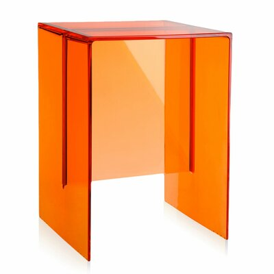 Max Beam Side Table Color: Tangerine Orange