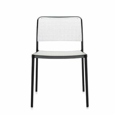 Audrey Side Chair (Set of 2) Color: Black/White