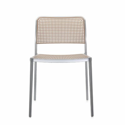 Audrey Armeless Chair (Set of 2) Finish: Aluminum/Sand