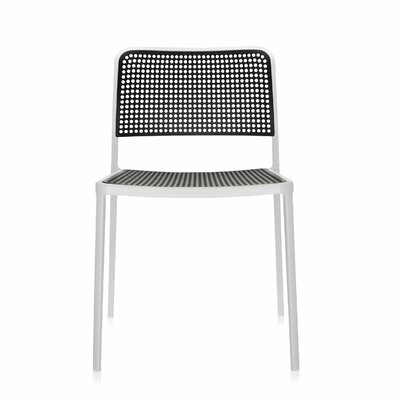 Audrey Armeless Chair (Set of 2) Finish: White/Black