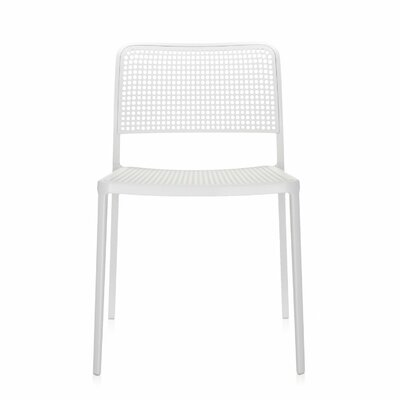 Audrey Armeless Chair (Set of 2) Finish: White/White