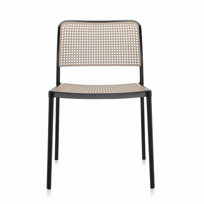 Audrey Armeless Chair (Set of 2) Finish: Black/Sand