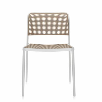 Audrey Armeless Chair (Set of 2) Finish: White/Sand