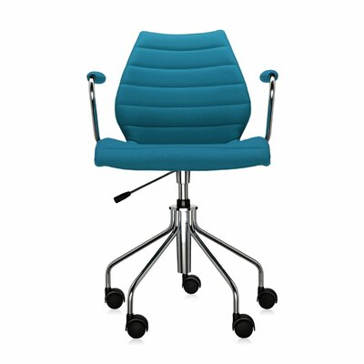 Maui Soft Armchair on Castors Color: Trevira Teal Product Picture 968