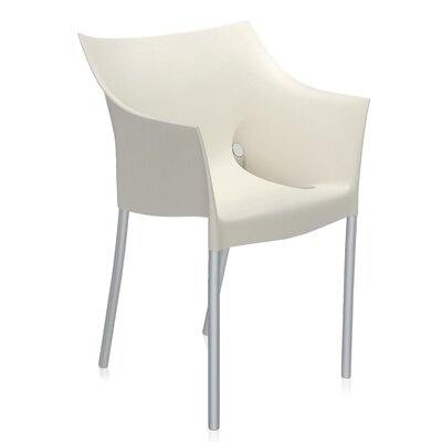 Dr. No Arm Chair (Set of 2) Finish: Wax White