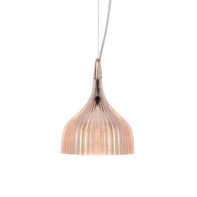 E 1-Light Mini Pendant Color: Rose