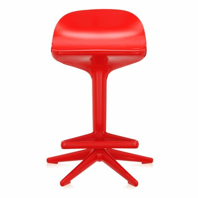 Adjustable Height Swivel Spoon Stool Finish: Red
