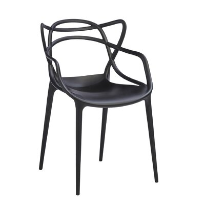 Masters Chair (Set of 2) Finish: Black