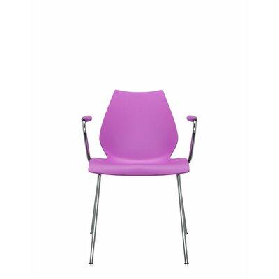 Maui Arm Chair (Set of 2) Upholstery: Fuchsia