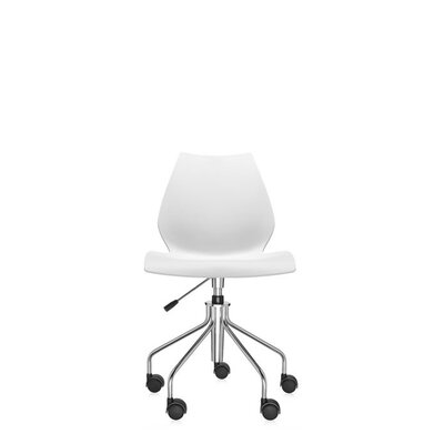 Maui Task Chair Finish: Zinc White, Style: Height Adjustable Swivel Base without Arms Product Photo 1626