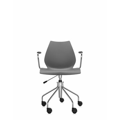 Maui Armchair on Castors Finish: Anthracite, Style: Height Adjustable Swivel Base with Arms Product Picture 1384